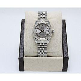 Rolex Ladies Datejust 179174 Stainless Steel & 18K Gold Bezel