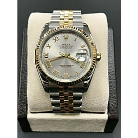 Rolex Datejust 116233 Silver Roman Dial 18K Yellow Gold & Stainless Steel