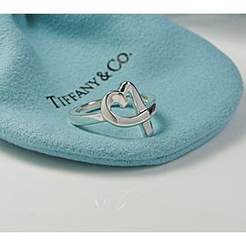 MINT Tiffany & Co. Picasso Loving Heart Ring Silver Size 6 Retired