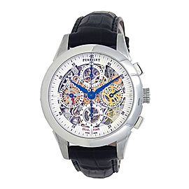 Perrelet Skeleton Chronograph Stainless Steel Automatic Men's Watch A1010-7