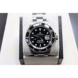 Vintage Rolex Submariner 16800 Stainless Steel Original Black Dial