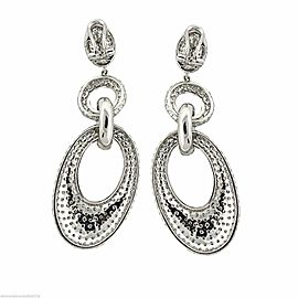 18k White Gold 14.00ct Diamond Micro Pave Earrings