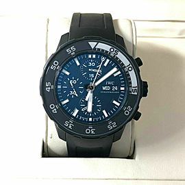 Men's IWC Aquatimer Chronograph Stainless Steel w/ Black Dial IW376705