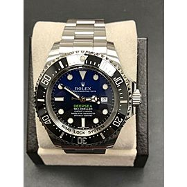 Rolex 116660 Deepsea Deep Blue Sea Dweller Stainless Steel Box & Paper 2015