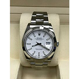 Rolex Datejust II 41mm 126300 Stainless White Dial Box Papers 2019