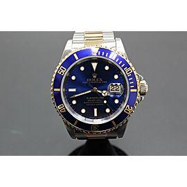 Rolex Submariner Blue 16613 18K Yellow Gold & Stainless Steel