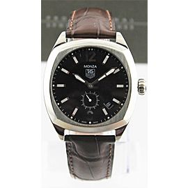 TAG HEUER MONZA WR2110.FC6165 MENS AUTOMATIC BROWN LEATHER WATCH