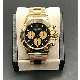 Rolex Daytona Cosmograph 116528 Paul Newman Black and Red Dial 18K Yellow Gold