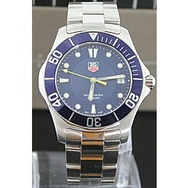 TAG HEUER AQUARACER WAB1112.BA0801 QUARTZ SUBMARINER MENS BLUE WATCH