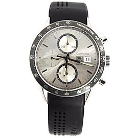 TAG HEUER CARRERA CV2011.FT6007 CHRONOGRAPH AUTOMATIC RUBBER WATCH