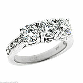 3.00ct. Round Brilliant Three Sone Diamond Engagement Ring
