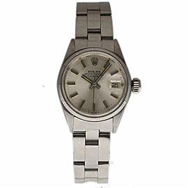 Rolex Date 6519 Steel 26.0mm Women Watch
