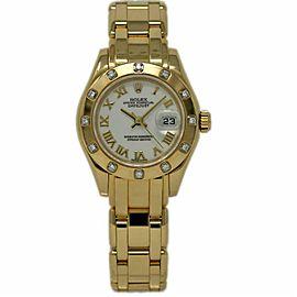 Rolex Masterpiece 69318 Gold 29.0mm Women Watch