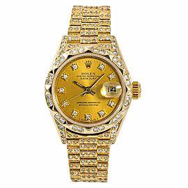 Rolex Datejust 69278 Gold 26.0mm Women Watch