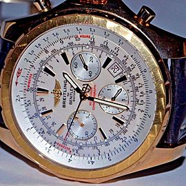 Breitling Bentley H25363 Gold Watch