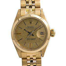 Rolex Date 6916 Gold 26mm Women Watch
