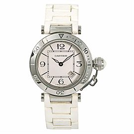 Cartier Pasha W3140001 Steel 33.0mm Womens Watch