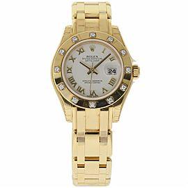 Rolex Masterpiece 80318 Gold 29.0mm Womens Watch