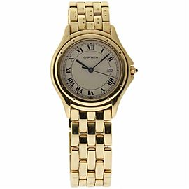 Cartier Cougar 887904 Yellow Gold 32.0mm Womens Watch