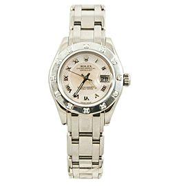 Rolex Masterpiece 80319 White Gold 29mm Womens Watch