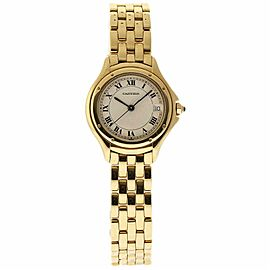 Cartier Cougar 887921 Yellow Gold 32.0mm Womens Watch