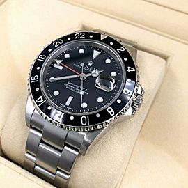 Rolex GMT Master II 16710 Black Dial Stainless Steel Box & Papers Mint Condition