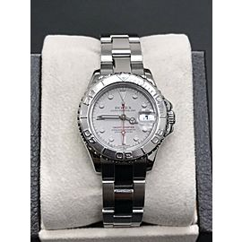 Rolex Ladies Yacht Master 169622 Platinum & Stainless Steel Box Papers