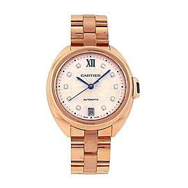 Cartier Cle de Cartier 18K Rose Gold Diamond Markings Automatic Watch WJCL0033