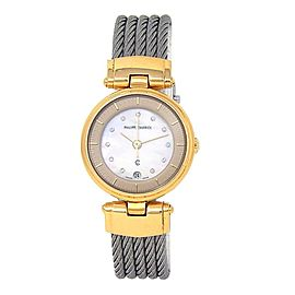 Philippe Charriol 18k Yellow Gold & Stainless Steel Quartz Ladies Watch 65961702