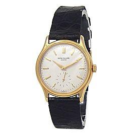 Patek Philippe Calatrava 18k Yellow Gold Hand Winding Men's Watch 3923J