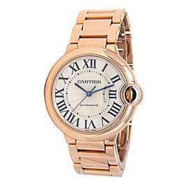 Cartier Ballon Bleu 18k Rose Gold Automatic Mid-Size Watch W69004Z2