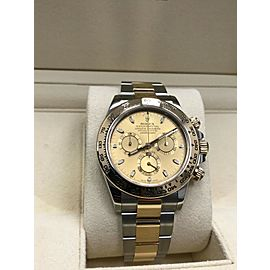 Rolex Daytona 116503 18K Yellow Gold & Stainless Steel Champagne Box Papers 2016