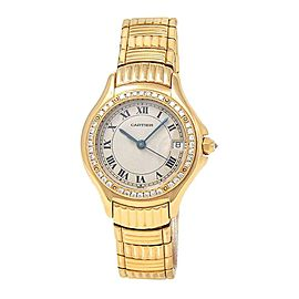 Cartier Panthere Cougar 18k Yellow Gold Swiss Quartz Ladies Watch 1171 1
