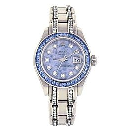 Rolex Datejust Pearlmaster 18K White Gold Swiss Automatic Ladies Watch 80309