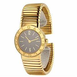 Bulgari Tubogas BB262TS Yellow Gold 19.05mm Womens Watch