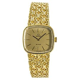 Omega De Ville Manual Yellow Gold 24mm Womens Watch