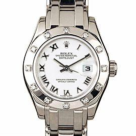 Rolex Masterpiece 80319 White Gold 29.0mm Womens Watch