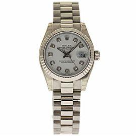Rolex Datejust 179179 White Gold 26.0mm Womens Watch