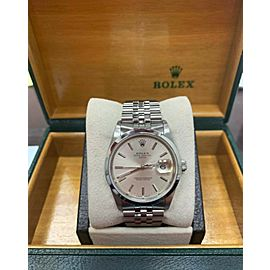 Rolex 15200 Date Silver Dial Stainless Steel Mint Condition Box & Papers