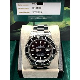 Rolex Submariner Date 168000 Transitional Triple Zero Box & Service Papers 1986