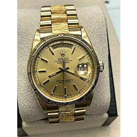 Rolex President Day Date 18248 Bark Finish 18K Yellow Gold