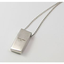 Tiffany & Co. Frank Gehry Sterling Silver Torque Bar Pendant RARE