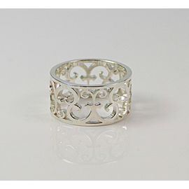 Tiffany & Co. Enchant Wide Scroll Ring Sterling Silver RETIRED Size 5