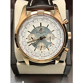 Breitling Transocean Chronograph Unitime RB0510 18K Rose Gold