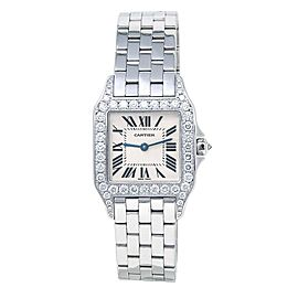 Cartier Santos Demoiselle 18k White Gold Swiss Quartz Ladies Watch WF9004Y8