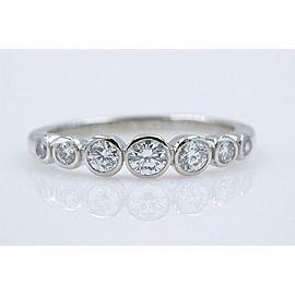 3d4e1869f Tiffany & Co Jazz Diamond Half Circle Graduating Band Platinum 0.31 tcw