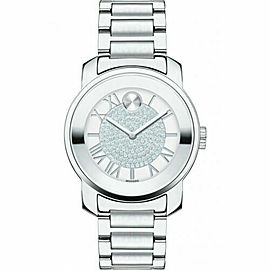 MOVADO BOLD LUXE 3600254 SILVER ROMAN DIAL SWISS QUARTZ LADIES WATCH