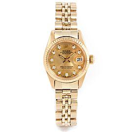 Rolex Datejust 6917 Gold 26mm Women Watch