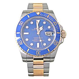 Mens' Rolex Submariner Two Tone 18k Yellow Gold & SS w/ Blue Dial 116613BLD
