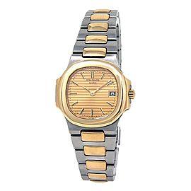 Patek Philippe Nautilus Stainless Steel & 18k Yellow Gold Quartz Watch 4700/1